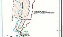 Dores do Rio Preto - Mapa de Localização
