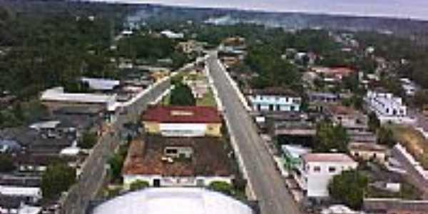 Vista do centro de Alvar�es-AM-Foto:Vandreza Sodre