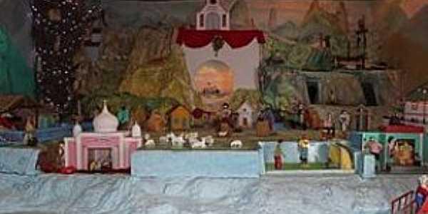 Jaciguá-ES-Presépio permanente ao lado da Igreja Matriz-Foto:www.folhavitoria.