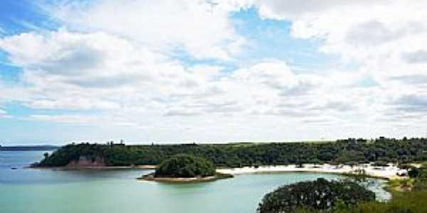 Linhares-ES-Lagoa Juparan�,Ilha e Praia-Foto:Elp�dio Justino de Andrade