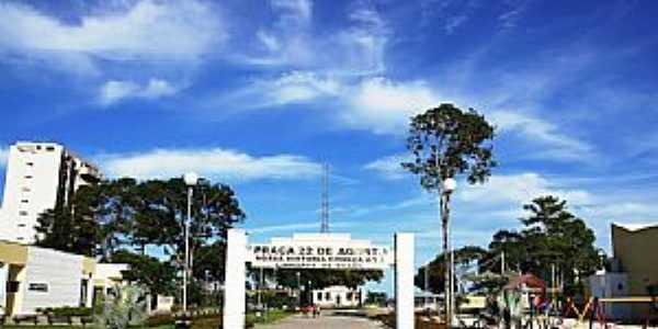 Linhares-ES-Pra�a no local da funda��o da cidade-Foto:Elp�dio Justino de Andrade