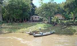 Anamã - Anamã-AM-Palafitas ribeirinhas do rio Solimões-Foto:marcelotec