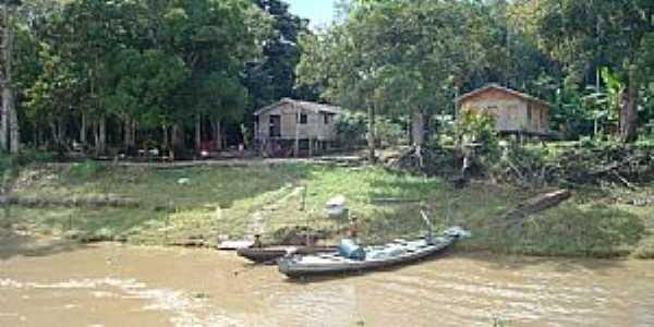 Anamã-AM-Palafitas ribeirinhas do rio Solimões-Foto:marcelotec