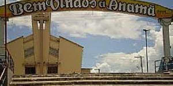 Anamã-AM-Pórtico de entrada-Foto:www.ale.am.gov.br