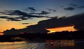 Anori - Anori-AM-Pôr do Sol no Lago Anori-Foto:Cezar Mario Rech