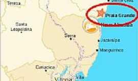Praia Grande - Mapa de Localização - Praia Grande-ES