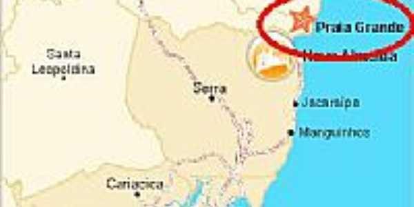 Mapa de Localização - Praia Grande-ES