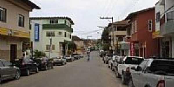 Rua �tila Viv�cqua,centro comercial de Presidente Kennedy-Foto:Andr� Jord�o