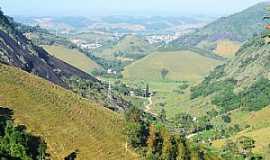 Rio Novo do Sul - Cidade de Rio Novo do Sul e estrada de terra de São Caetano. Essa foto foi tirada da torre da Embratel