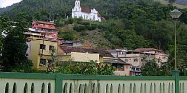Santa Leopoldina-ES-Igreja Matriz no alto do morro-Foto:Paulo Filho