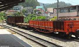 Vargem Alta - Vargem Alta-ES-Trem na Estação-Foto:Sergio Falcetti