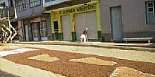 Tapete da Festa de Corpus Cristi nas ruas de Vila Verde-Foto: Allencar M Nogueira