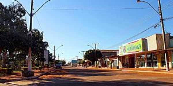 Alto Horizonte-GO-Avenida Principal e Praça da Matriz-Foto:Jackson Rodrigues
