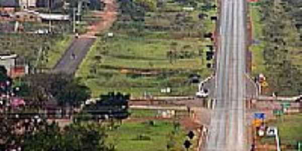 Trevo de acesso de Alto Paraiso de Goiás-GO-Foto:Joventino Neto