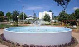 Amorinópolis - Fonte na Praça da Vila União em Amorinópolis-GO