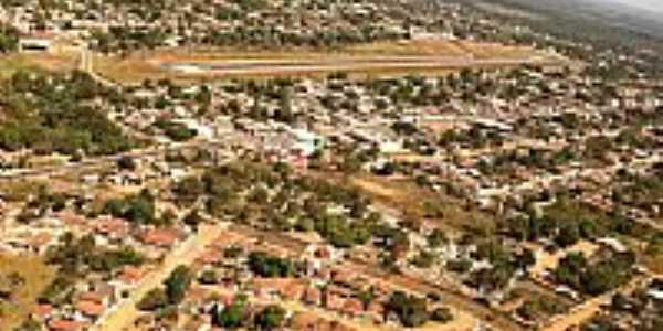 Aragarças-GO-Vista aérea da cidade e aeroporto-Foto:Gal Gomes