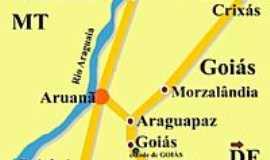 Aruanã - Mapa