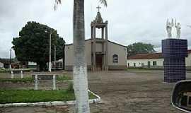 Auriverde - Auriverde-GO-Praça central e Igreja Matriz-Foto:Angel-Velasco