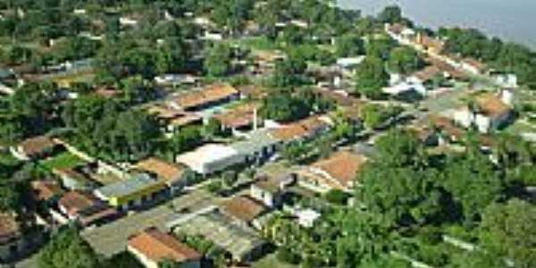 Vista aérea parcial de Bandeirantes-GO-Foto:BlogBandeirantes-GO