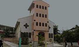 Boca do Acre - Igreja Matriz em Boca do Acre-AM-Foto:olintocristo