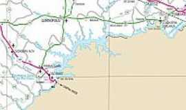 Cachoeira Alta - Mapa de Localização - Cachoeira Alta-GO