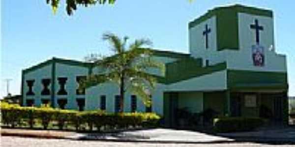 Matriz do Sagrado Coração de Jesus em Caçu-Foto:olintocristo