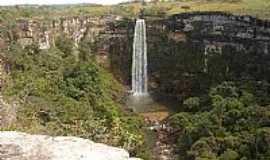 Caiap�nia - Caiap�nia-GO-Cachoeira de S�o Domingos-Foto:mochileiro.tur.br