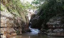 Caiap�nia - Caiap�nia-GO-Cachoeira do Tobog�o-Foto:Gil Roberto