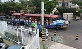 Caldas Novas - Trenzinho turístico na praça central de Caldas Novas-GO-Foto:JOSE EYMARD