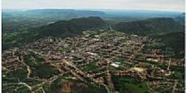 Vista a�rea de Campos Belos, por Dimas Justo.