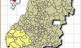 Chapadão do Céu - Mapa de Localização