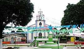 Canutama - Canutama-AM-Praça e Igreja Matriz-Foto:Fares Nery