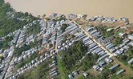 Canutama - Canutama-AM-Vista aérea da orla da cidade-Foto:Fares Nery