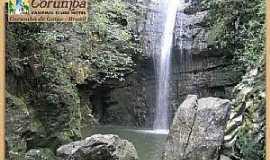 Corumbá de Goiás - Corumbá de Goiás-GO-Gruta na Cachoeira-Foto:mochileiro.tur.br