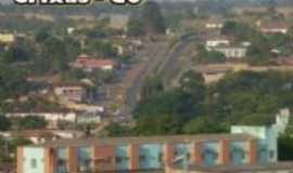 Crixás - Vista da avenida das oliveiras em Crixás, Por Márcia Bento Cordeiro