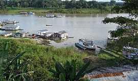 Carauari - Carauarí-AM-Casas flutuantes no Rio Juruá-Foto:ibueno