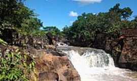 Diorama - Diorama-GO-Cachoeira da Ponte de Pedras no Rio dos Bois-Foto:cleidnei barbosa machado