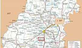 Edealina - Mapa de Localização - Edealina-GO
