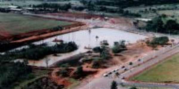 Vista Aérea do Lago dos Buritis - ainda em obras, Por Wolney Tavares