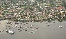 Coari - Coari-AM-Vista a�rea da cidade e o Rio Solim�es-Foto:Antonio Iaccovazo