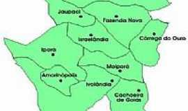 Israelândia - Mapade localização