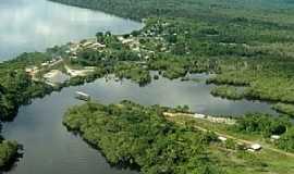 Cucuí - Cucuí-AM-Vista aérea do Rio Negro e a cidade-Foto:diogobzg