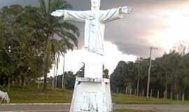 Eirunepé - Eirunepe-AM-Cristo no trevo de acesso da cidade-Foto:marcelotec