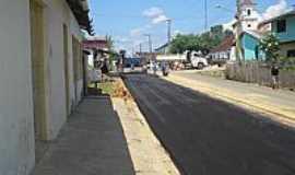 Eirunepé - Eirunepé-AM-Rua central sendo pavimentada-Foto:JOSUÉ FERREIRA