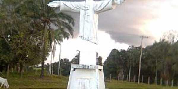 Eirunepe-AM-Cristo no trevo de acesso da cidade-Foto:marcelotec