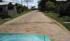Envira - Rua pavimentada em Cerâmica em Envira-AM-Foto:Marcelo Imoto
