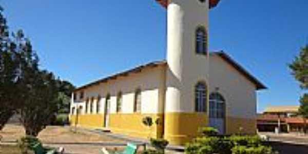 Nova Crixás-GO-Capela de São José dos Bandeirantes no Distrito do mesmo nome-Foto:Pe. Edinisio Pereira…