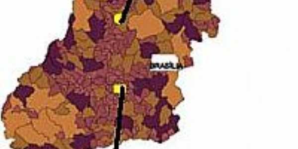 Mapa de Localização - Nova Iguaçú de Goiás-GO