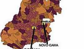 Novo Gama - Mapa de Localização - Novo Gama-GO