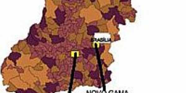 Mapa de Localização - Novo Gama-GO